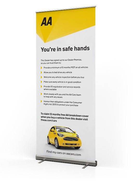 Dealer Promise pull up banner