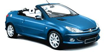 used peugeot 206 cc cars for sale second hand nearly. Black Bedroom Furniture Sets. Home Design Ideas